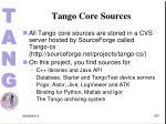 tango core sources