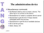 the administration device1