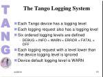 the tango logging system1