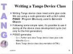 writing a tango device class