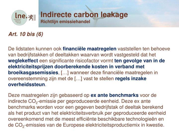 Indirecte carbon leakage