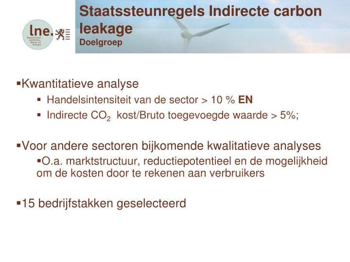 Staatssteunregels Indirecte carbon leakage
