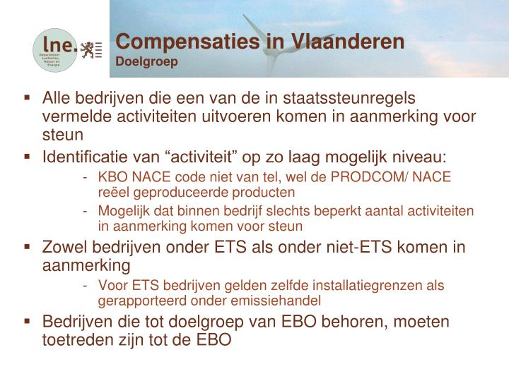 Compensaties in Vlaanderen