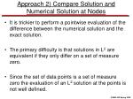 approach 2 compare solution and numerical solution at nodes