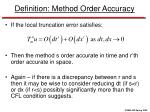 definition method order accuracy