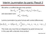 interim summation by parts result 2