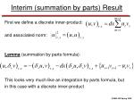 interim summation by parts result
