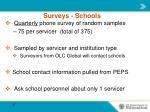 surveys schools