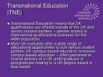 transnational education tne
