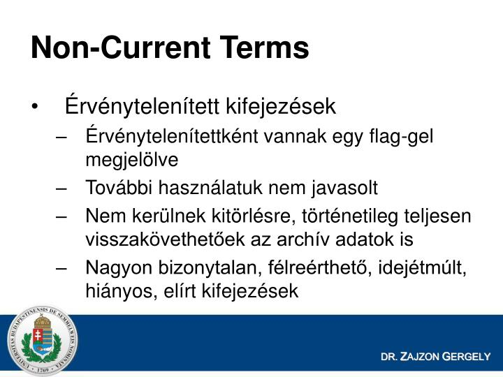 Non-Current Terms