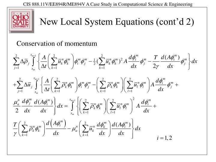 New Local System Equations (cont'd 2)