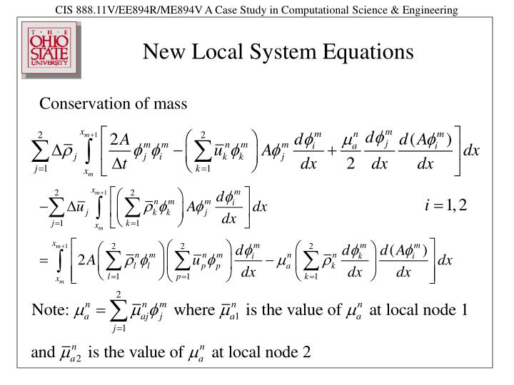 New Local System Equations
