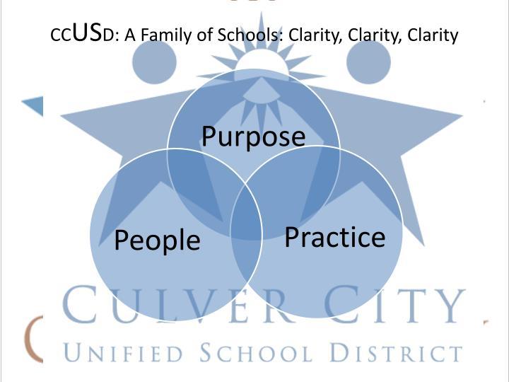 Cc us d a family of schools clarity clarity clarity