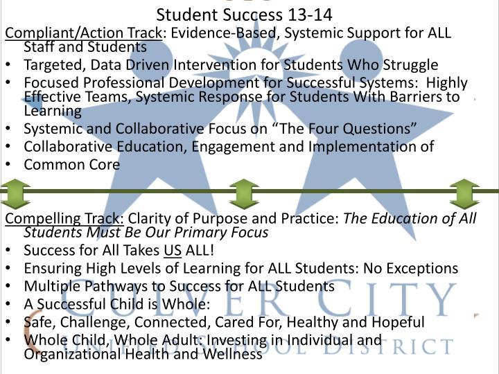 Student Success 13-14