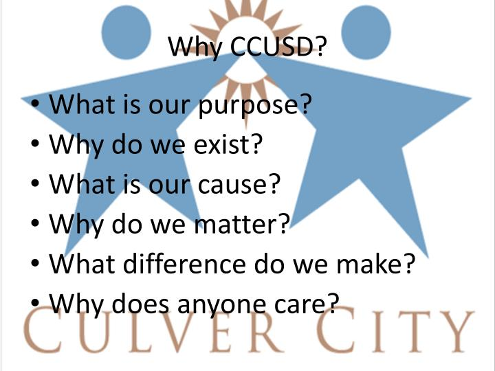Why CCUSD?