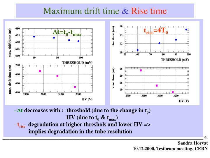 Maximum drift time