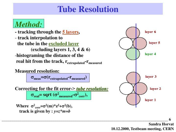 Tube Resolution