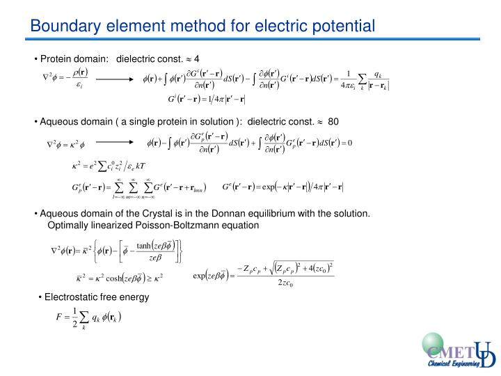Boundary element method for electric potential