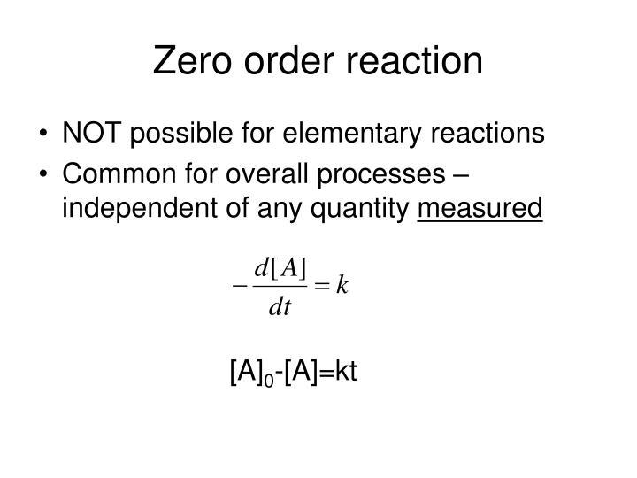 Zero order reaction