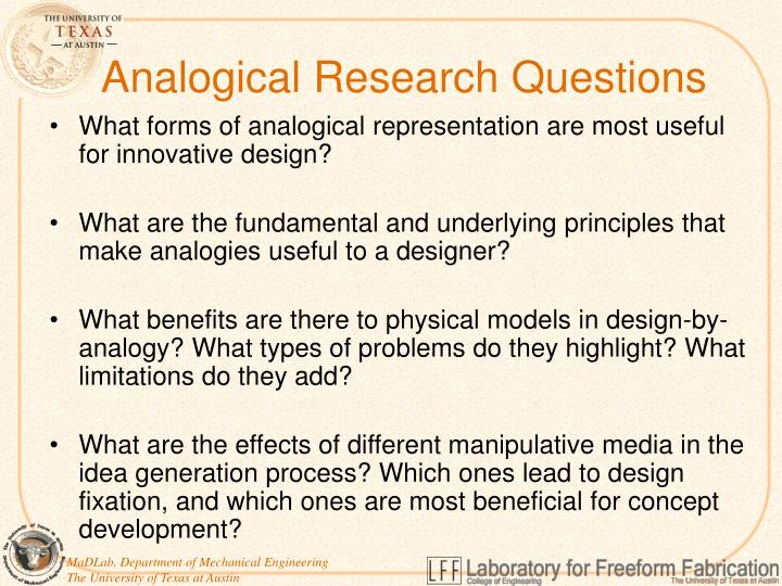 Analogical Research Questions