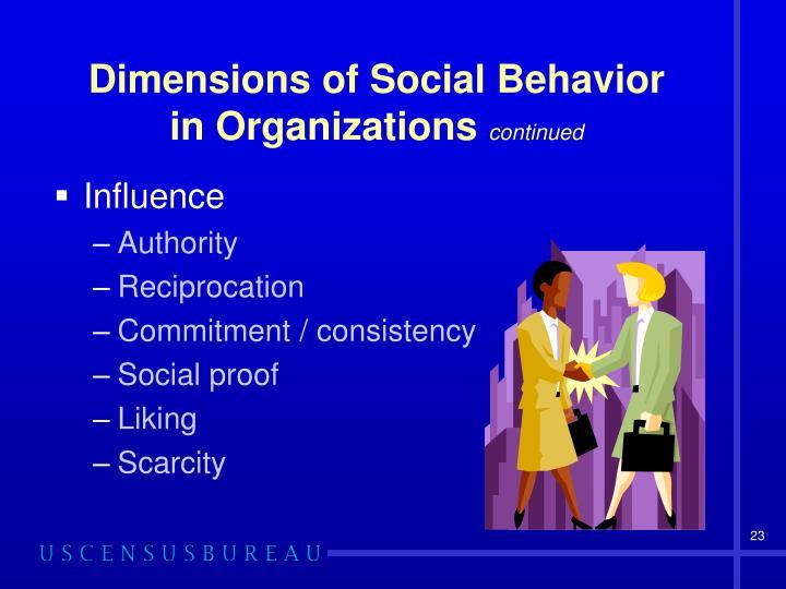 Dimensions of Social Behavior