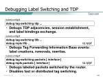 debugging label switching and tdp