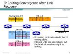 ip routing convergence after link recovery