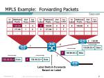 mpls example forwarding packets