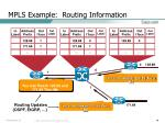 mpls example routing information