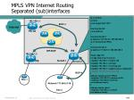 mpls vpn internet routing separated sub interfaces2