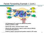 packet forwarding example 1 cont