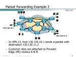 packet forwarding example 2