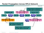 packet propagation across mpls network