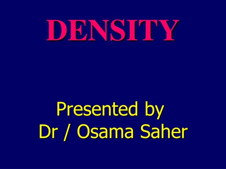 density n.