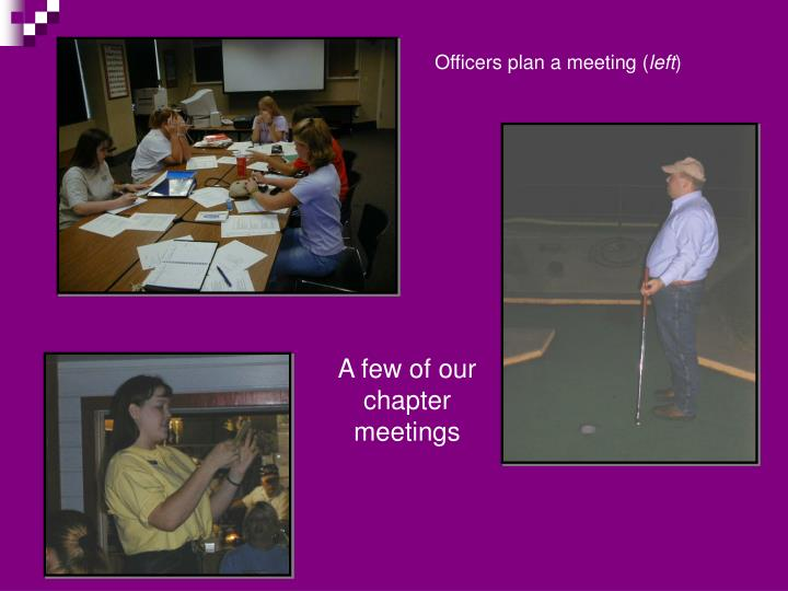 Officers plan a meeting (