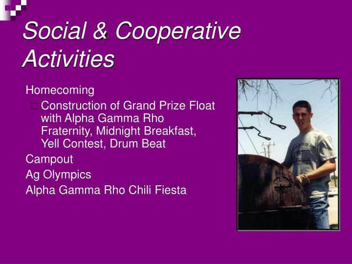 Social & Cooperative Activities