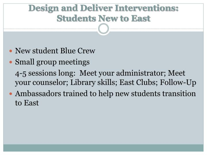 Design and Deliver Interventions: