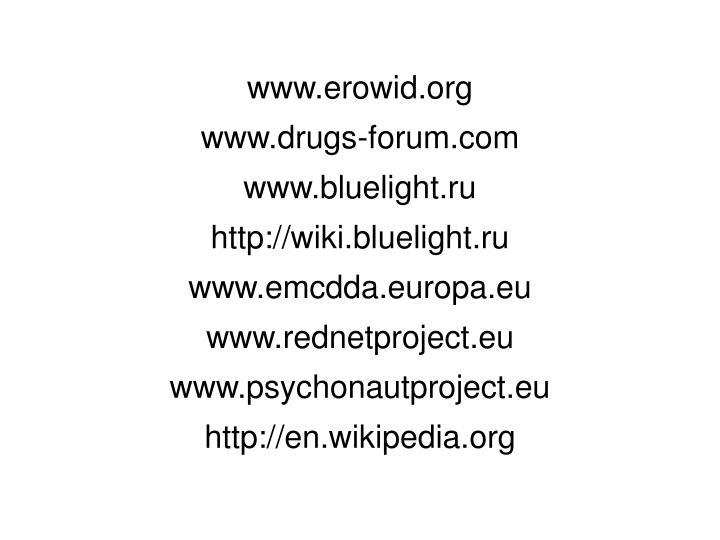 www.erowid.org