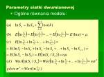 parametry siatki dwumianowej1