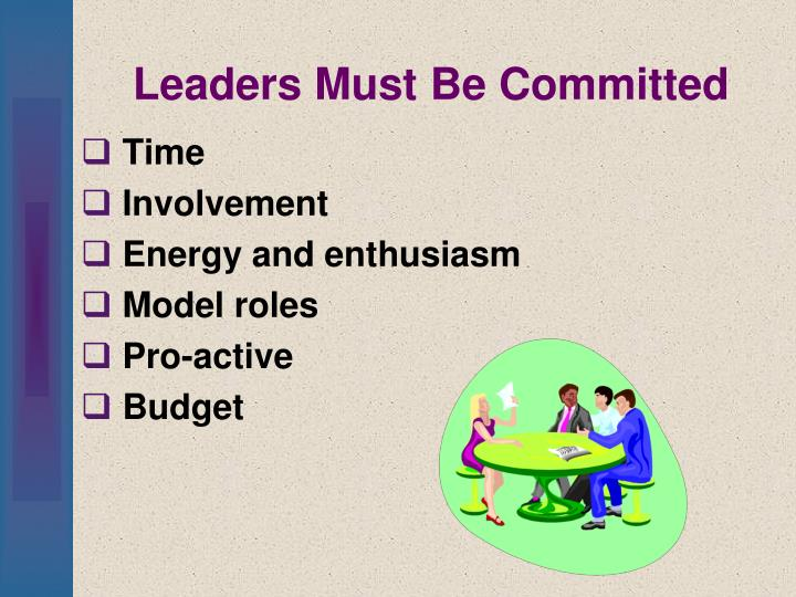 Leaders Must Be Committed