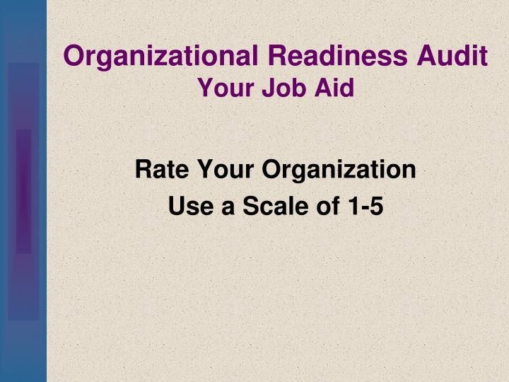 Organizational Readiness Audit