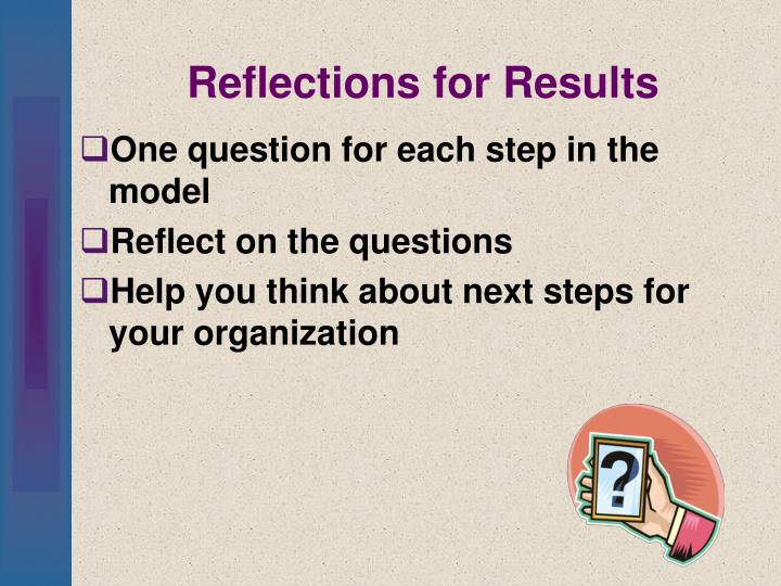 Reflections for Results