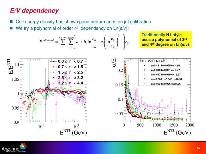 E/V dependency