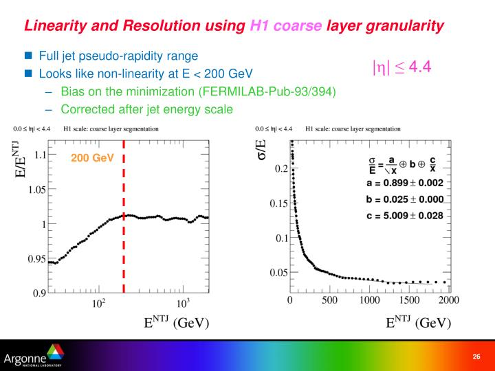 Linearity and Resolution using