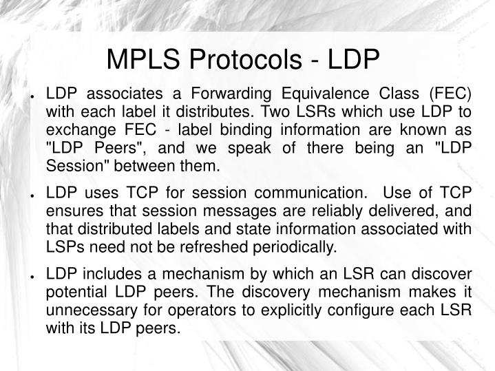 MPLS Protocols - LDP