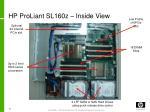 hp proliant sl160z inside view