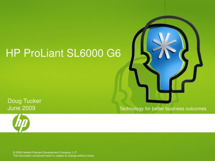 hp proliant sl6000 g6 n.
