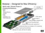 modular designed for max efficiency
