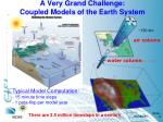 a very grand challenge coupled models of the earth system