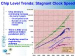 chip level trends stagnant clock speed
